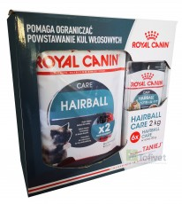 Royal Canin HAIRBALL Care 2x400g + 6 saszetek
