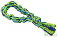 BUSTER COLOUR Bungee Rope Single Knot sznur niebieski/limonkowy-33 cm