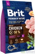 BRIT Premium by Nature Adult Small 3kg NOWA FORMUŁA!
