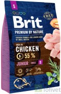 BRIT Premium by Nature Junior S 3kg NOWA FORMUŁA!