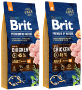 BRIT Premium by Nature Adult Medium 2x15kg NOWA FORMUŁA!