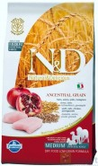 FARMINA N&D LOW GRAIN Chicken Pomegranate Adult Medium 800g