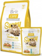 BRIT CARE Cat SUNNY Beautiful Hair Łosoś Ryż 400g