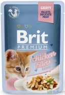 BRIT Premium Cat Gravy Fillets Chicken Kurczak KITTEN 85g