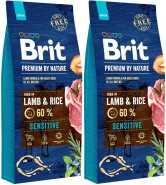 BRIT Premium by Nature Lamb & Rice Sensitive 2x15kg