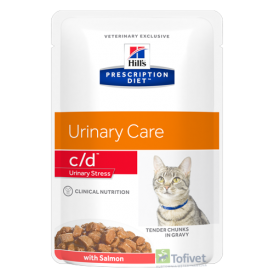 HILL'S PD Feline c/d Urinary Stress Salmon 85g